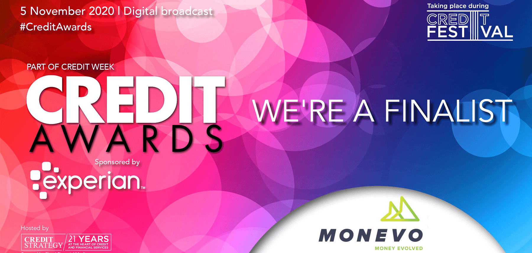 Monevo announced as finalist in Credit Awards 2020