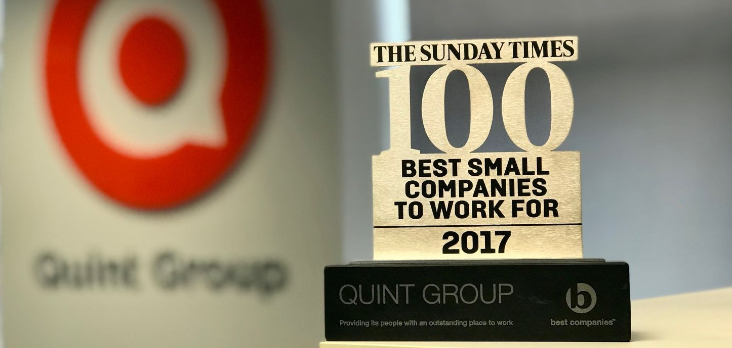 Quint Group Celebrate 3 Star Best Companies Accreditation